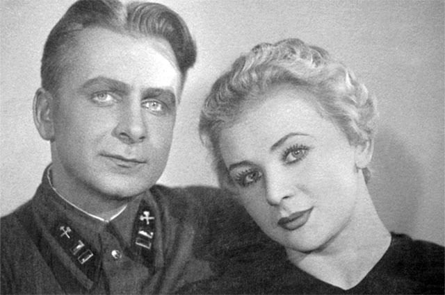 Валентина Серова с мужем, Анатолием Серовым