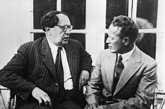 Алексей Толстой и Михаил Шолохов, 1934 год.