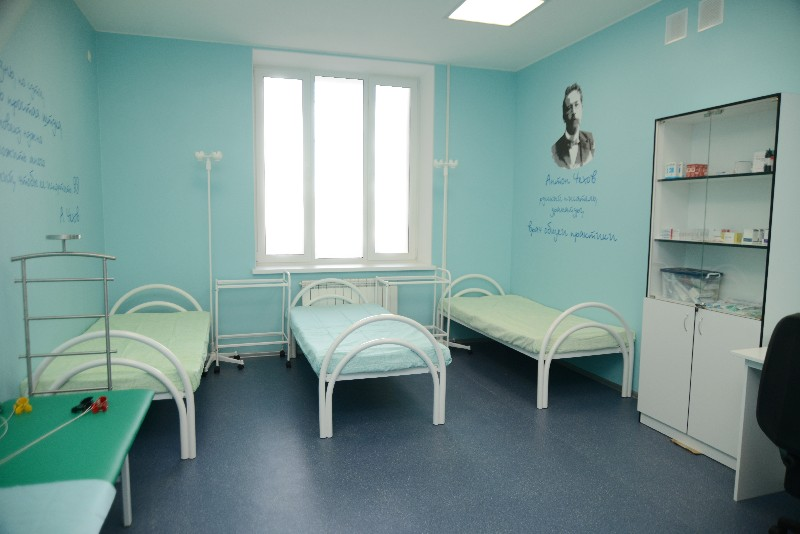 В одном из центров общей практики в Смоленске стены украшены цитатами великих писателей.