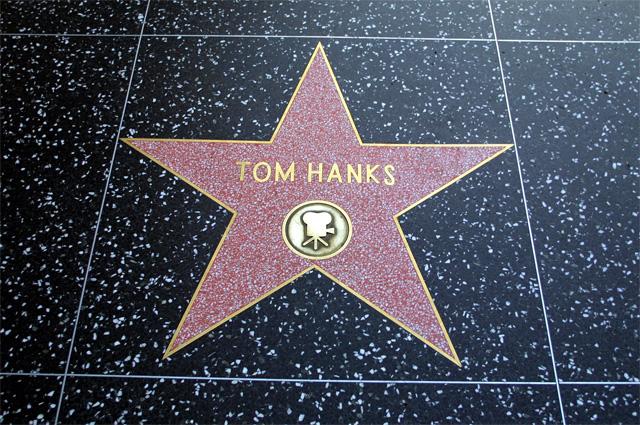 Звезда Тома Хэнкса на «Аллее славы».