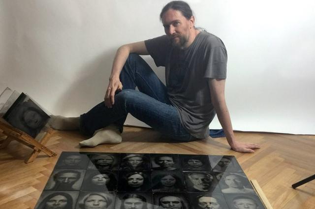Андрей сделал более 150 портретов-амбротипов.