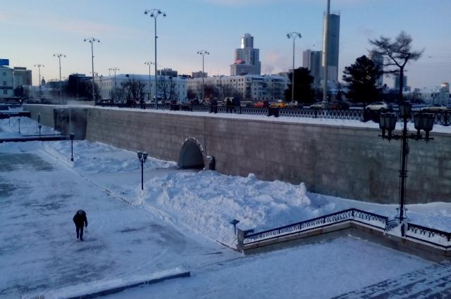 Зимние сумерки. Плотинка.