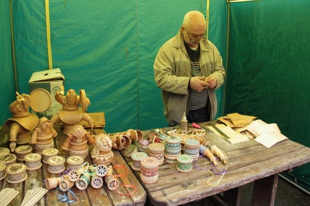 В музее проходила выставка-продажа изделий из бересты.