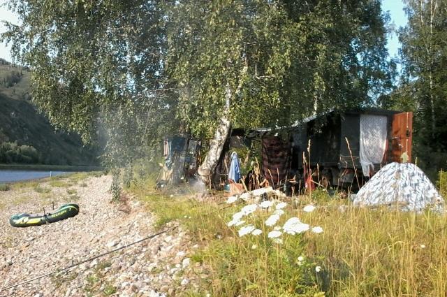 Палаточный лагерь.