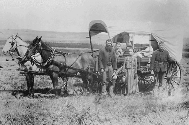 Переселенцы в США. 1866 год