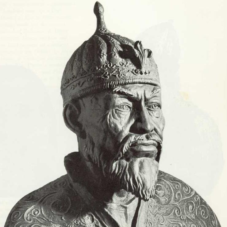 Реконструкция облика Тамерлана по его черепу. Михаил Михайлович Герасимов, 1941 г