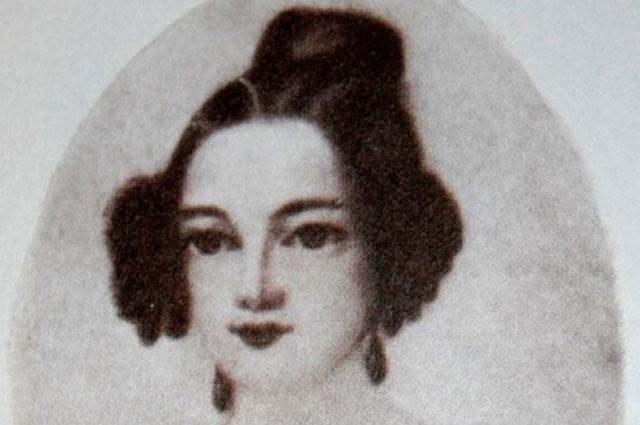 Репродукция портрета Екатерины Сушковой возлюбленной М. Лермонтова, XIX век