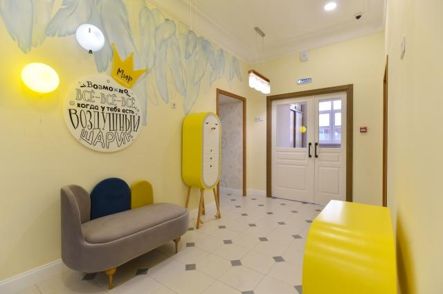 Внутреннее пространство Детского центра развития погружают ребёнка в комфортную и безопасную развивающую среду.