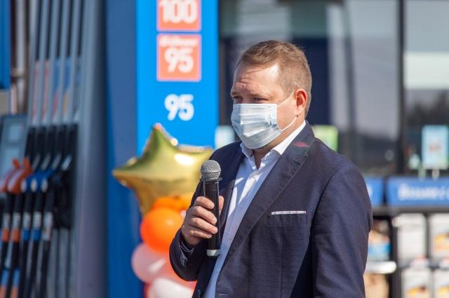 Руководитель сети АЗС «Газпромнефть» в Тюмени Антон Крошин.