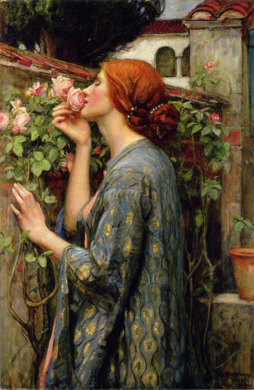 Дж. У. Уотерхаус «Душа розы», 1903.