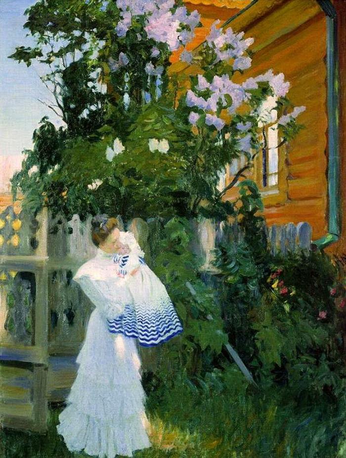 Борис Кустодиев «Сирень», 1906.