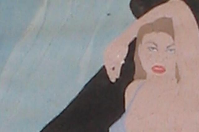 Фрагмент рисунка Кати на стене бункера, который заказал Мохов.