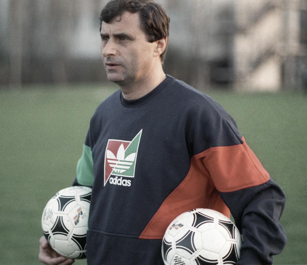 Старший тренер сборной команды СССР по футболу Анатолий Бышовец, 1991 г.