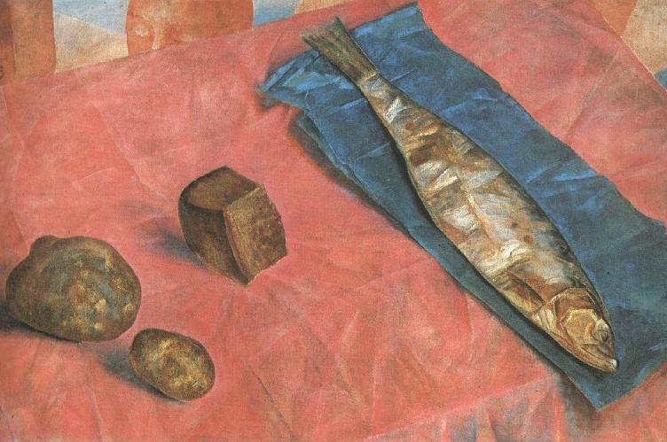 Фрагмент картины Сельдь, 1918 год