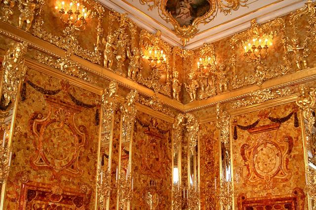 Большой Екатерининский дворец, Янтарная комната.