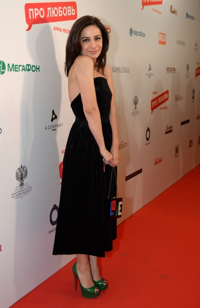 Анна Меликян напремьере фильма «Про любовь».