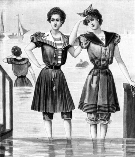 Женские купальные костюмы всеверной Европе в1898 году. (Журнал «Nordisk Mønster-tidende», 1898)