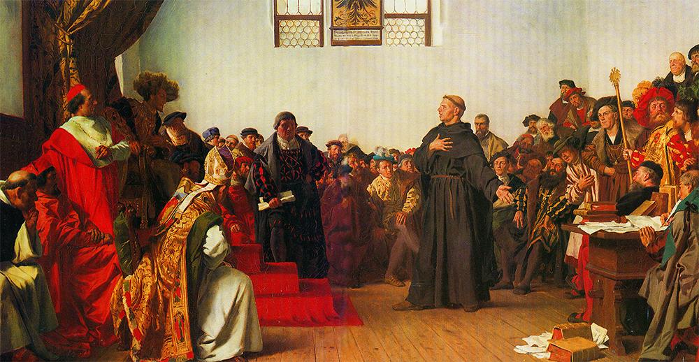 Лютер в Вормсе: «На сём я стою…».