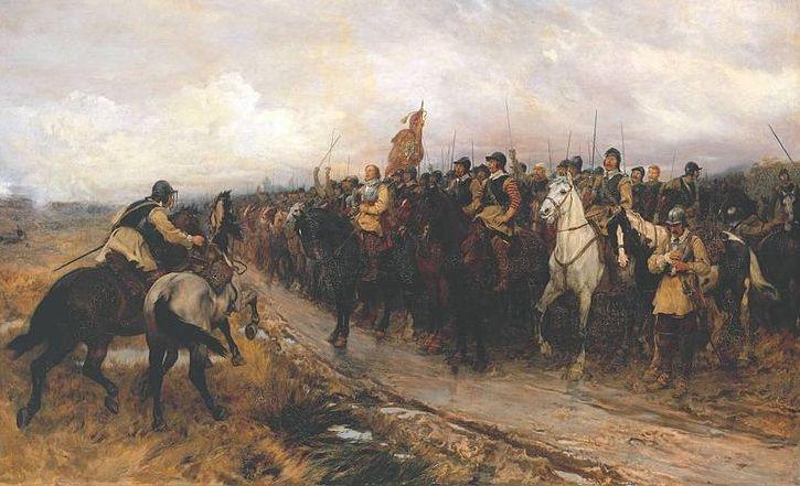 Кромвель в Денбаре. Эндрю Гоу, 1886 г