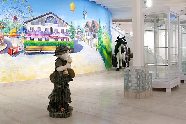 Дизайн музея выполнен в ярком сказочном стиле