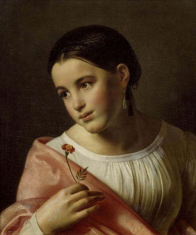 Повесть Карамзина легла в основу произведения. 1827.