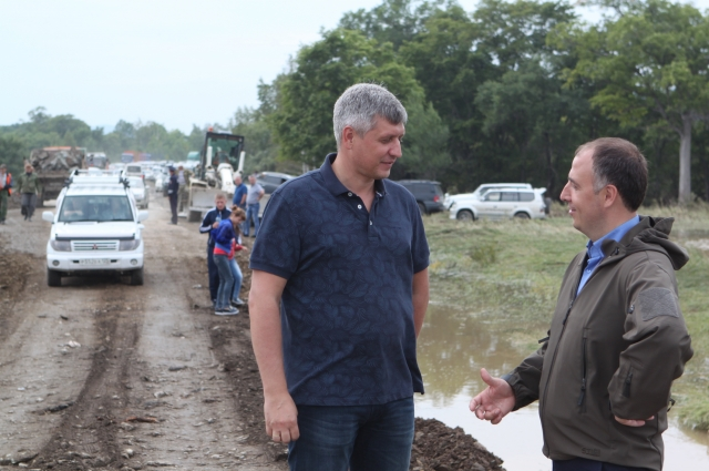 Работы контролировали директор департамента транспорта Александр ШВОРА и гендиректор «Примавтодора» Дмитрий ГОРЛОВ.