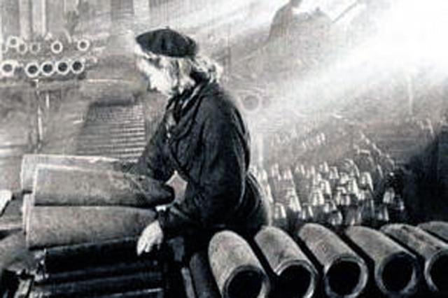 На Чкаловском паровозоремонтном заводе делали снаряды.
