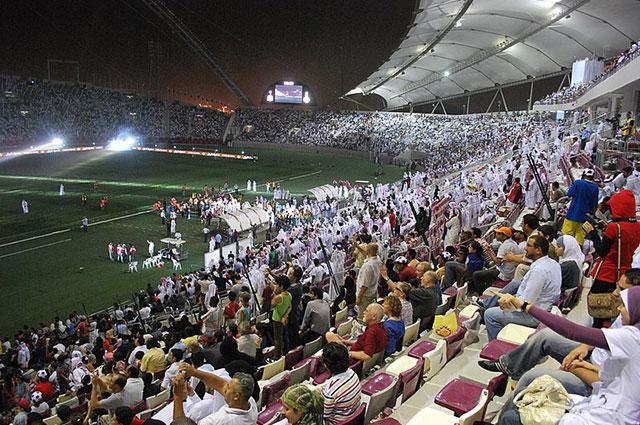 Футбольный матч в Дохе.