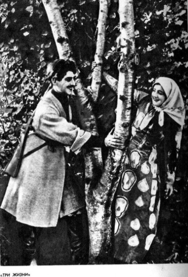 Михаил Геловани в фильме «Три жизни» (1924)