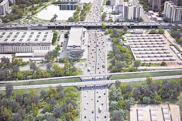 Строящийся участок Южной рокады от Балаклавского до Пролетарского проспекта (3D-модель).