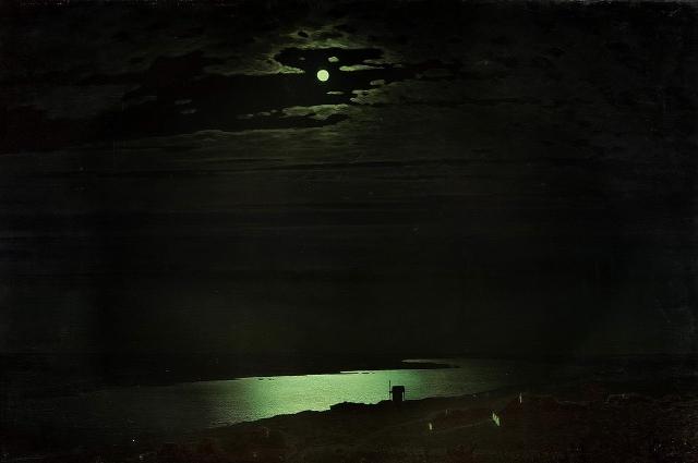 «Лунная ночь на Днепре». Архип Куинджи, 1880 г.