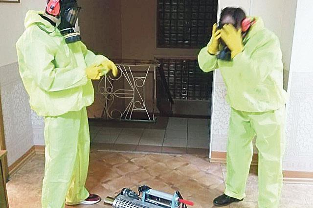 Специалисты ветстанции дезинфицировали социальные объекты от коронавируса.