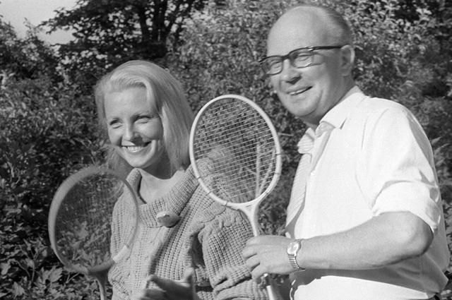 Вия Артмане и Артур Димитерс. 1970-е годы