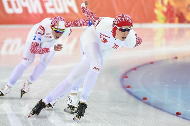 Соревнования конькобежцев на Олимпиаде в Сочи