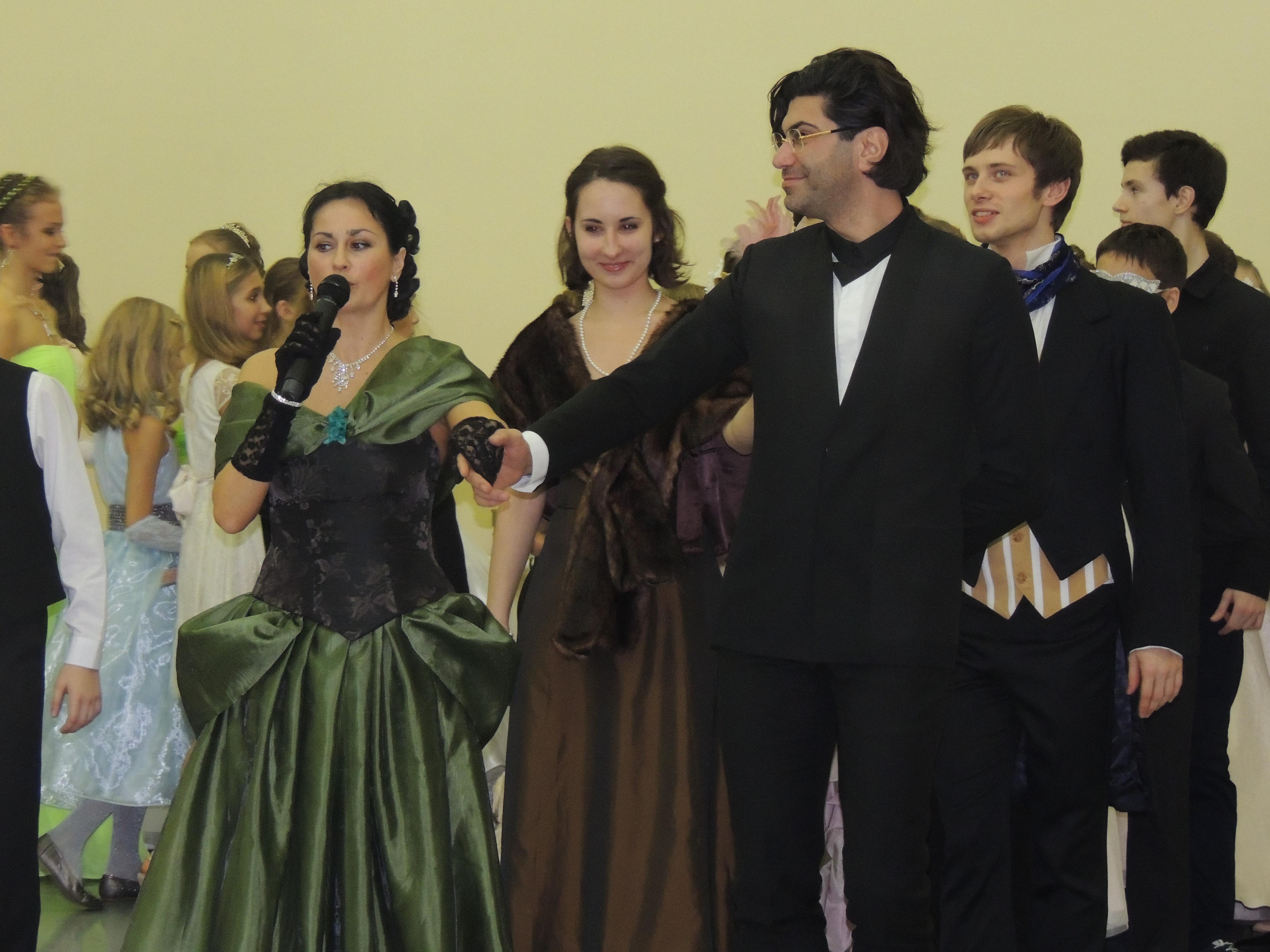 Николай Цискаридзе на Рождественском балу в Академии