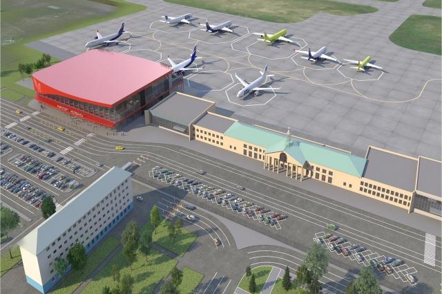 Так должен выглядеть аэропорт Челябинска через полтора года.