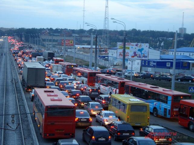 Пробки в Казани могут вернуться через пять лет.