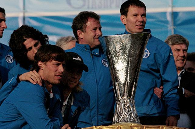 Встреча команды Зенит с болельщиками после победы в Кубке УЕФА