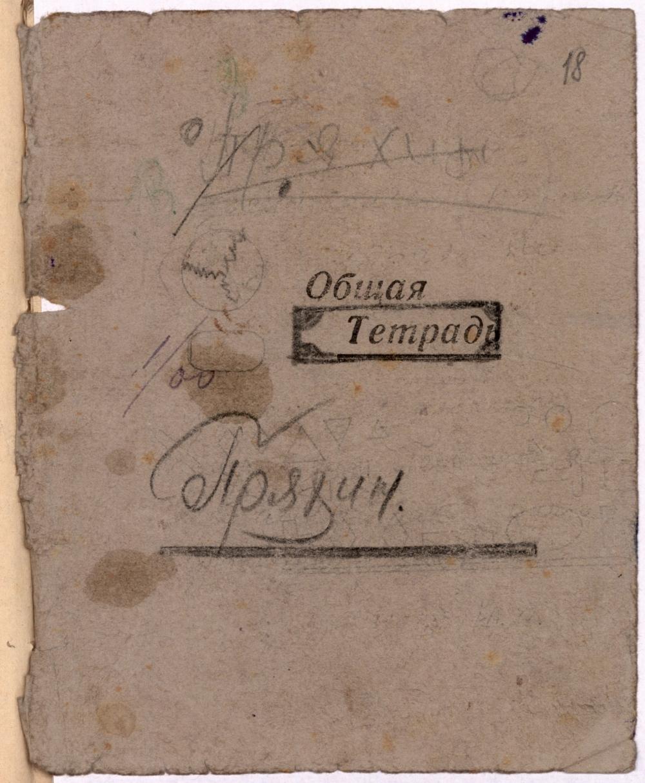Обложка дневника Александра Пряхина