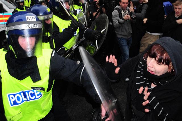 Протесты в Великобритании. 2011 г.