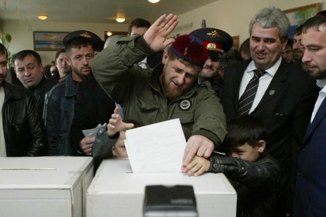 Рамзан Кадыров во времена, когда он ещё не был главой республики.