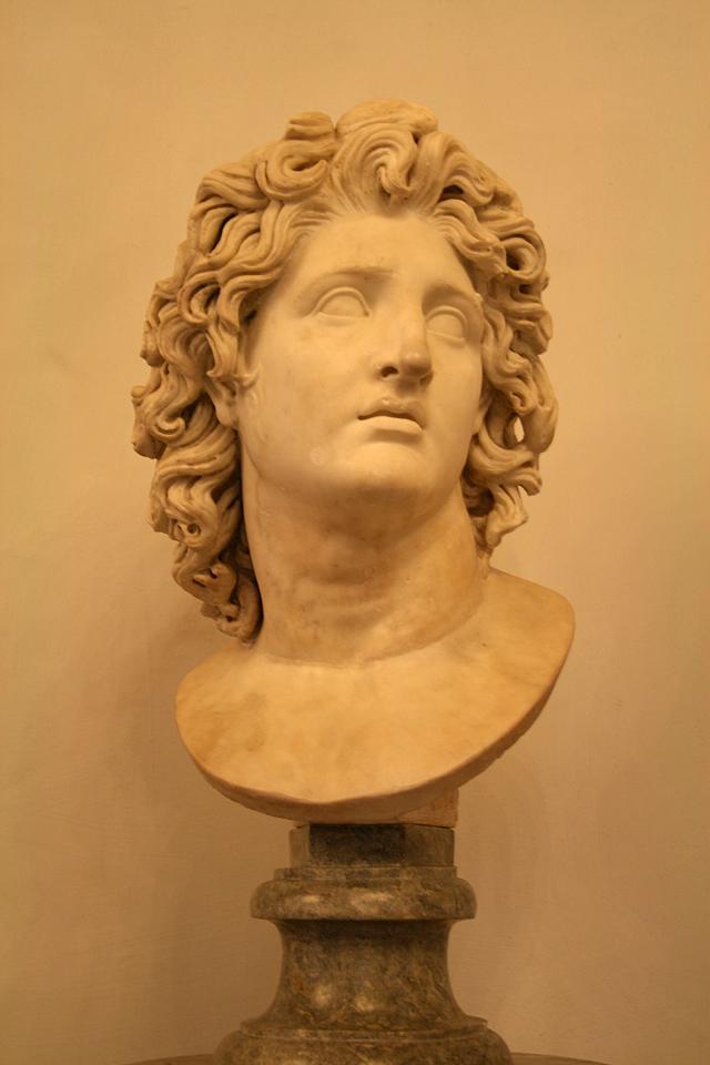 Бюст Александра Великого как Гелиоса. Капитолийские музеи (Рим)