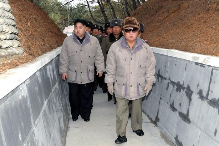 Товарищ Ким Чен Ир и товарищ Ким Чен Ын