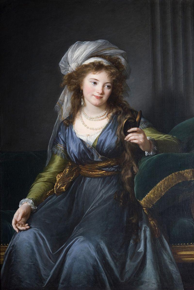 Портрет графини Екатерины Скавронской», 1790, худ. Элизабет Виже-Лебрен, музей Жакмар-Андре, Париж