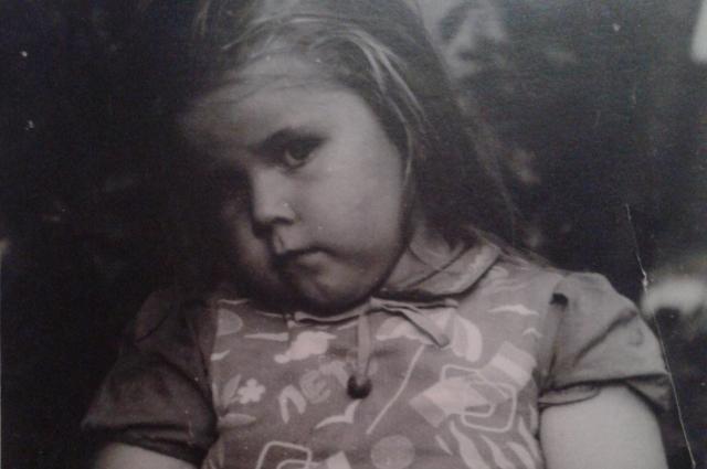 Даже в детстве Таня была пухленькой