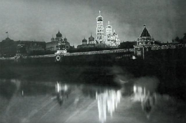 Иллюминация, Кремль, коронация Николая II