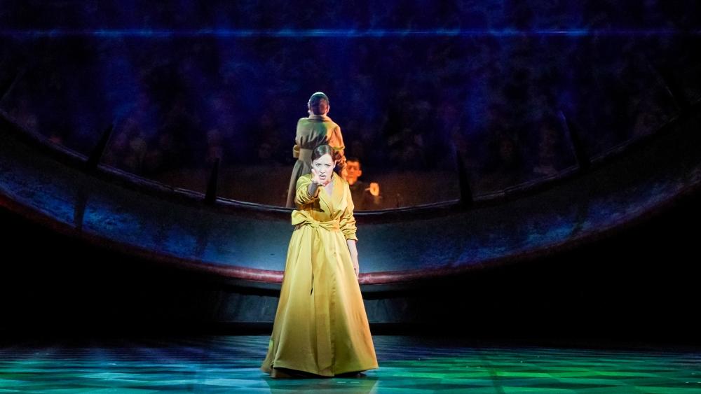 Надежда Павлова выступила на премьерном показе оперы.