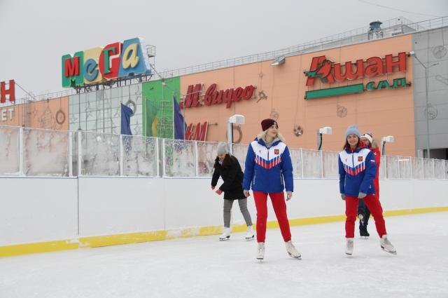 Посетители МЕГИ смогут посетить не только каток, но и зимний бульвар.