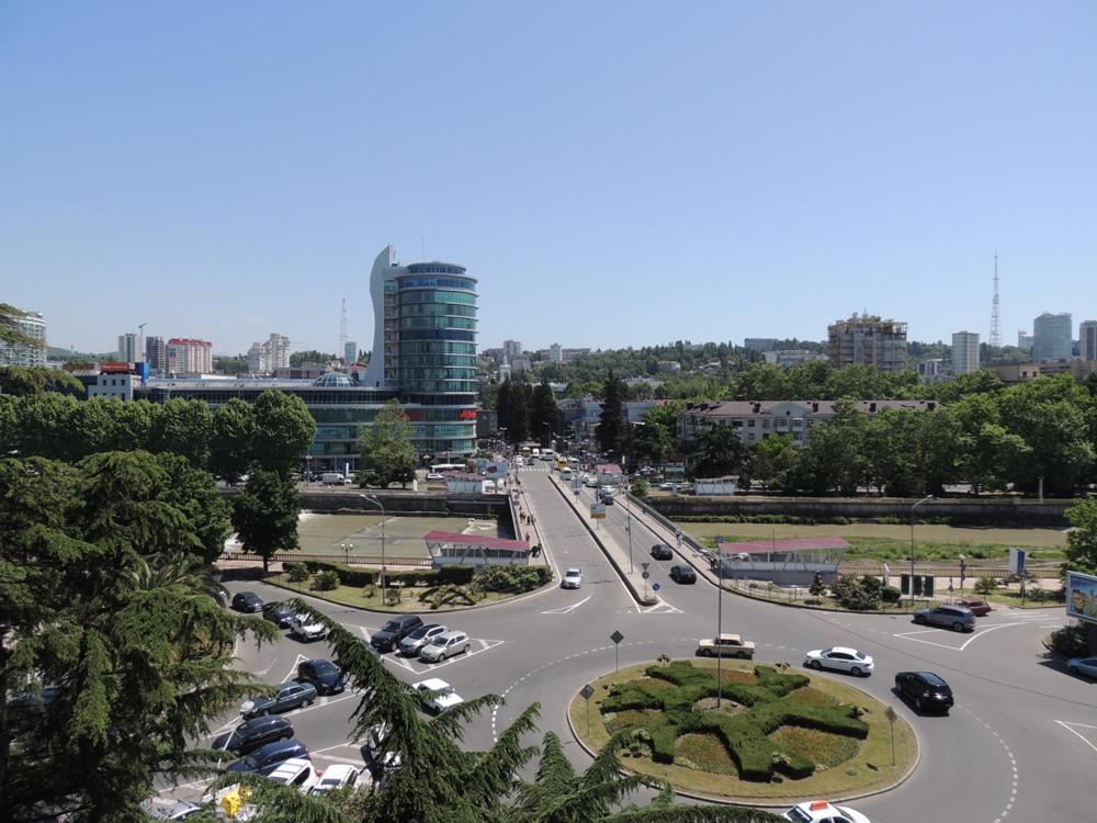 Центр Сочи из окна отеля