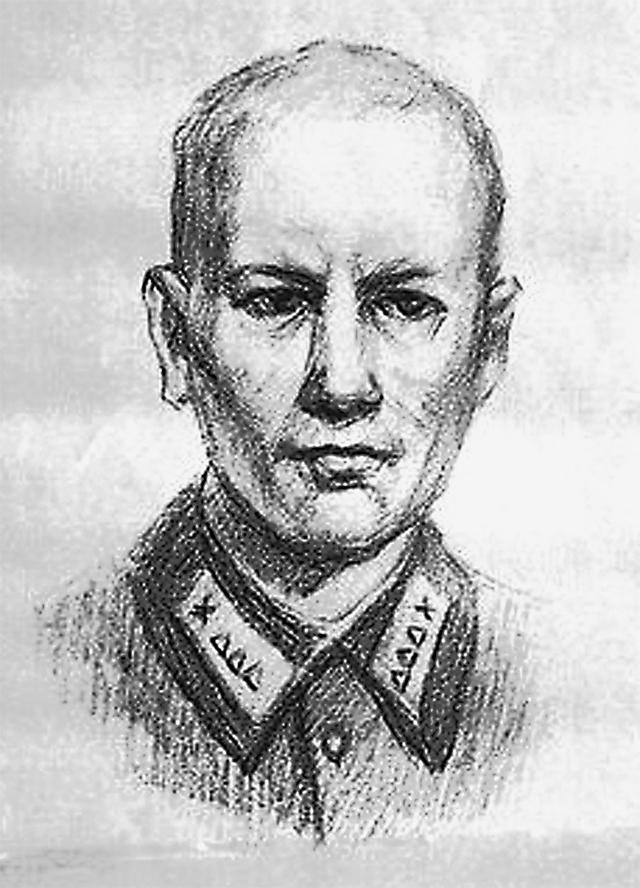 Портрет Николая, сделанный сослуживцем по памяти в 90-х гг. прошлого века